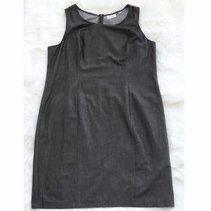 Avenue Charcoal Midi Career Dress Sz 20